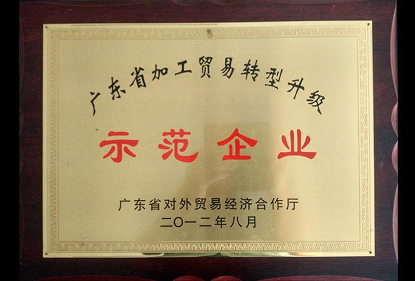 广东省加工贸易 <br/>转型升级示范企业